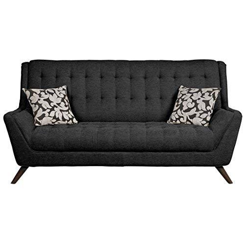 Coaster Furniture 503774 Natalia Retro Sofa Black Chenille U