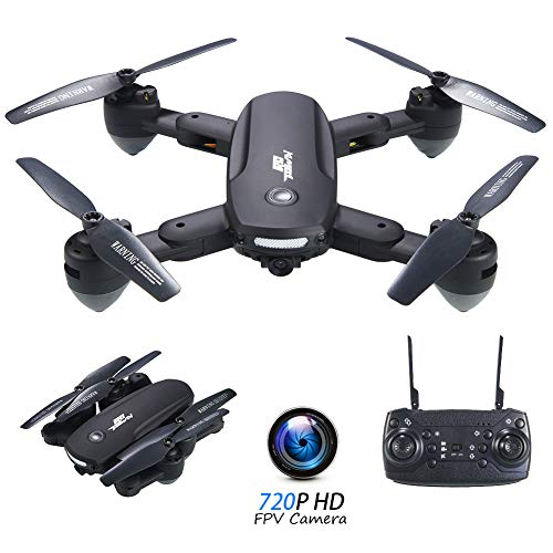 RCtown R10 Foldable FPV Drone with Camera 720P for Adults, WiFi FPV Live Video RC Quadcopter with Altitude Hold, Follow…