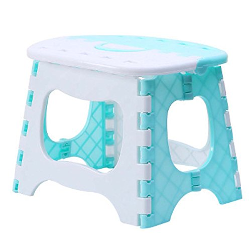 YIUHART Foldable Step Stool for Adults and Kids (Blue)