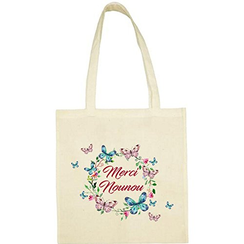 Créa03 Tote Bag ou Sac Shopping Merci Nounou