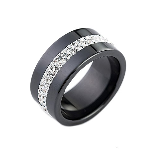 two-tones-personality-style-2rows-lines-clear-crystal-black-white-ceramic-ring7