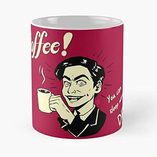 Allbirds You Can Sleep When You re Dead Gremlin Smile Drunken Child W Old Man Complex Fan Art Vintage The Boy Number Five The Umbrella Academy Taza de caf/é con Leche 11 oz