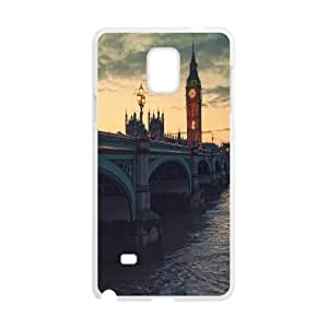 Cases for Samsung Galaxy Note 4, London at Dusk Cases for Samsung Galaxy Note 4, Tyquin White