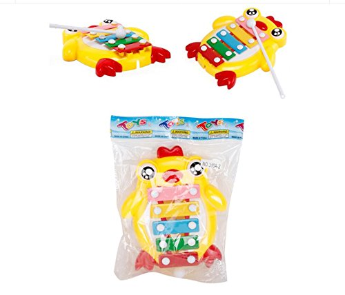 Polymer Musical Toys Chick Tone Piano Children's Percussion Infant Music Piano Musical Toys(Yellow)