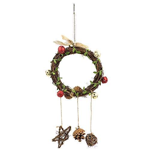 YINGGE Bird Vine Swing Toys with Rattan Ball, Bells and Pine Cone, Parrot Climbing Hanging Swings for Medium and Large…