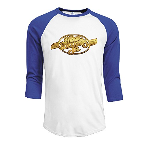 r-hot-mens-hank-williams-jr-logo-jersey-baseball-t-shirt-neck-cotton-blend-3-4-royalblue