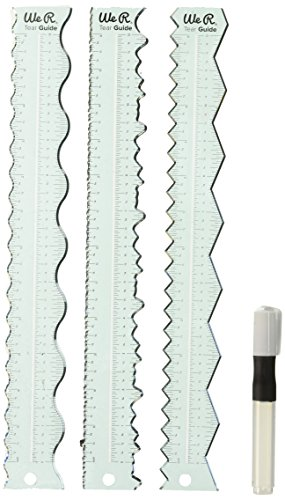 We R Memory Keepers We R We R Tear Guides 4/Pkg (Ruler Decorative Edge)