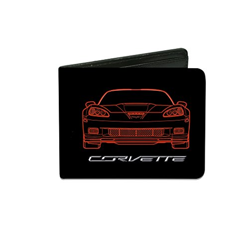 chevrolet-c6-frontview-rearview-blueprints-black-red-bi-fold-wallet