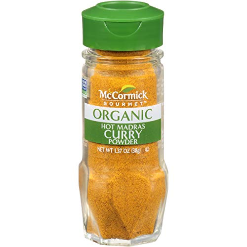 - McCormick Gourmet Organic Hot Madras Curry Powder, 1.37 oz