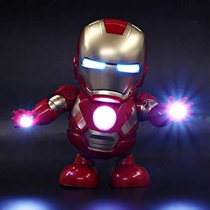 Marvel Avengers Iron Man Dancing Hero With Music//Lights Robots Toys Kids Gift US
