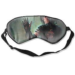 Fantasy Women Sleeping Mask Silk Eye Mask with Adjustable Straps Out for Sleep Travel Nap