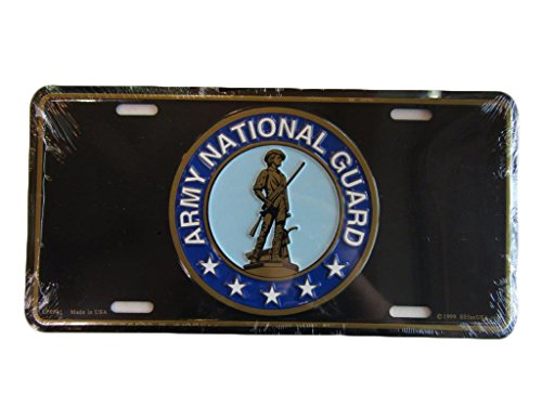 aes United States U.S. Army National Guard Aluminum License Plate Tag