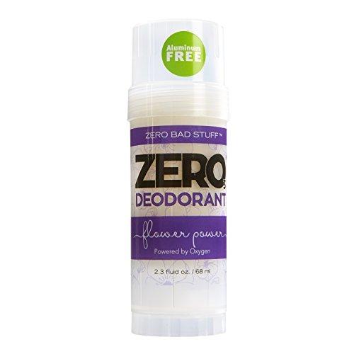 ZERO Deodorant - Oxygen Powered De-Stinkerizer - Long Lasting, All Natural, Safe for Sensitive Skin - Flower Power by Zero