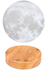Note The moon lamp leviate and light up by simple but fasciating science, the levitation is the result of electromagnetic forces between the base and moon lamp,the moon itself is powered through induction Please check the details, this item i...