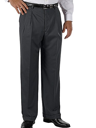 Paul Fredrick Men's Wool Gabardine Pant Charcoal 36