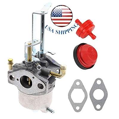 Shnile New Carburetor Carb & Fuel Filter & Primer Bulb for Toro 38587 38272 38282 38452 Snow Blower 119-1570 119-1928 119-1977 Power Clear 180 PC180 418ZR 418ZE Toro 119-1980 Stens 520-876