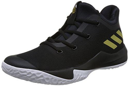 Adidas Mens D Rose Minaccia 3, Nero / Oro / Bianco Nero / Oro / Bianco