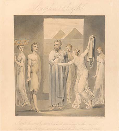 (Berkin Arts William Blake Giclee Art Paper Print Art Works Paintings Poster Reproduction(Joseph and Potiphar's Wife))