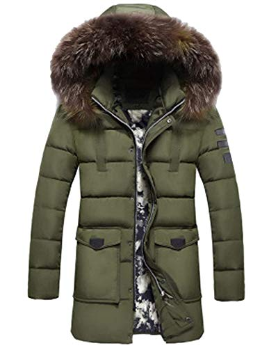 Adelina Men Warm Parka Winter Coat Jacket Winter Jacket Functional Hooded Chaude Jacket Outdoor Jacket Down Jacket Winter Quilted Jacket Men Coat Jacket Men Men Armeegrün