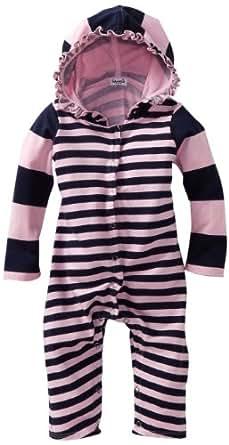 Splendid Littles Baby-girls Newborn Cambridge Mixed Stripe Playsuit, Pink Ribbon, 3-6 Months