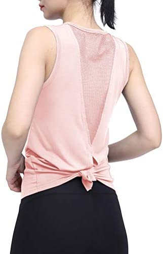 Mippo Womens Cute Workout Clothes Mesh Yoga Tops Exercise Gym Shirts Running Tank Tops 5