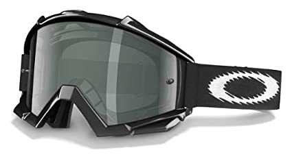 7ba82c44f00 Image Unavailable. Image not available for. Color  Oakley Proven MX Goggles  (Jet Black Frame Dk Grey Lens ...