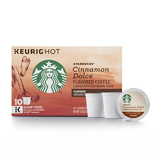 (Starbucks Cinnamon Dolce Flavored Blonde Light Roast Single Cup Coffee for Keurig Brewers, 6 Boxes of 10 (60 Total K-Cup pods))