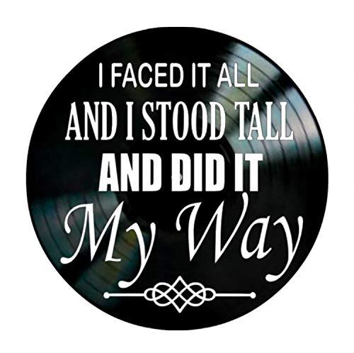 - My Way song lyric art/inspired by Frank Sinatra/Vinyl Record Album Wall Decor