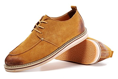 Causal Fashion Match Men's Leather TDA All Brown Shoes Oxford Classic Yellow TxSgY6