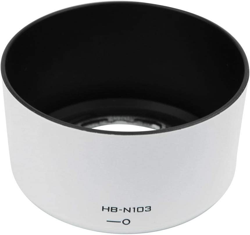 Mugast HB-N103 Camera Lens Hood,Portable Plastic Sun Shade,Professional Replacement Lens Hood Shade Accessory for Nikon 1 VR 30-110mm f//3.8-5.6,for Nikon 1 VR 10-30mm f//3.5-5.6 White