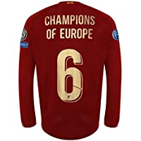 2019-20 Liverpool Jersey/Champions of Europe Liverpool Full Sleeves Jersey/Liverpool Champions League Jersey with Shorts
