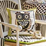 MacKenzie-Childs Owl Pillow, Brand New, 100% Authentic 16''Sq.