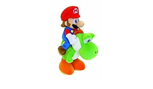 Amazon.com: Sanei - Super Mario Bros. Plush Figure Mario on Yoshi 21 cm: Toys & Games