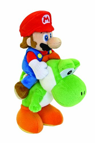 Nintendo 22cm Sanei Super Mario Bros Plush Mario and Yoshi Set (Best Selling Ds Games Of All Time)