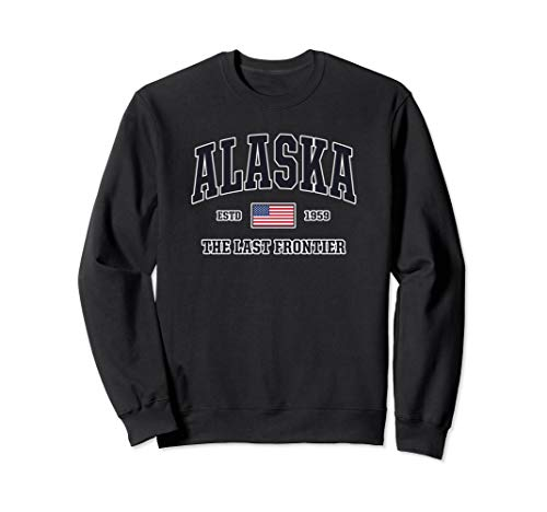 Alaska Sweatshirt American Flag Veteran Military Gifts USA