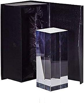 CRISTALICA Bloque De Vidrio Torre Rectangular Taza Pisapapeles para Grabado Láser De Vidrio 13Cm: Amazon.es: Hogar