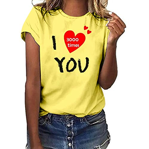 Shusuen Women's Sleeveless Summer Sunflower Print Floral Strappy Tank Tops I Love You 3000 Times Blouses Oversize Tees