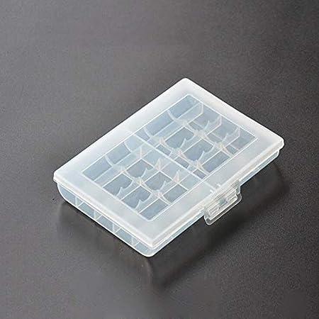 Accesorios para el hogar 1 unids batería titular caso para la celebración de 10 pilas AA AAA plástico duro caja de almacenamiento cubierta para No.5/No.7 batería caso cocina: Amazon.es: Hogar