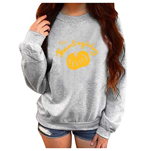 Womens Casual Long Sleeve Round Neck Halloween Print Hoodie T-Shirt Hooded Sweatshirt Tops Pullover Blouses (M-5XL)