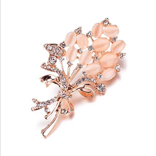 (UNKE Fashionable Accessories Rhinestone Flower Brooch Ladies Safety Pin ,2#)
