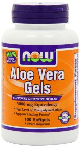 NOW Foods Aloe Vera Gels, 5000mg gélules, 100-comte