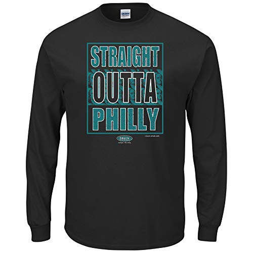 - Philadelphia Football Fans. Straight Outta Philly Black T-Shirt (Sm-5X) (Long Sleeve, 3XL)