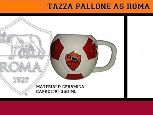 Taza, Diseño de Balón de Fútbol AS Roma: Amazon.es: Hogar