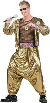 80s Video Star Costumes (80s MC Hammer Video Star Fancy Dress Costume by Bristol Novelties)