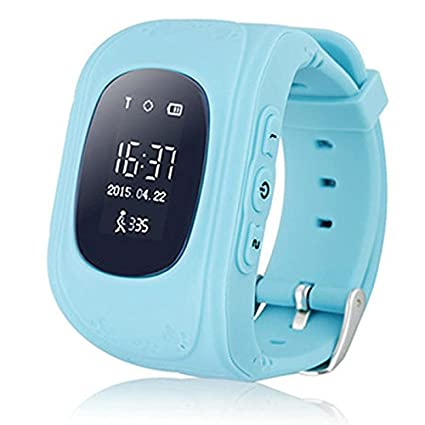 Kids GPS Tracker Smart Watch Phone Children Wrist Bracelet with SIM Card SOS Anti-lost Finder Parent Control on Universal Smartphone 7Days Plan ...