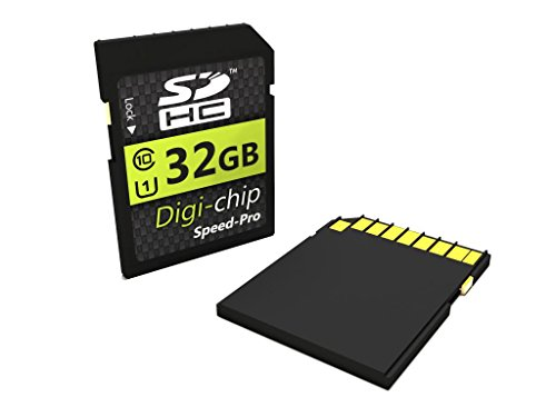 Digi-Chip HIGH SPEED 32GB UHS-1 CLASS 10 SDHC Memory Card for Fuji Finepix S4200, S4500, SL240, SL300, S8300, S8500, S8200, SL1000, S4800, S8400W, S9400W, S9200, S8600, S1, T400, T550, T500, XP150, XP50, XP60, XP200 and XP70 Digital Camera (Fuji S4500 Best Price)
