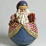 Jim Shore Heartwood Creek Santa With Gift Roly Poly Figurine #4002417