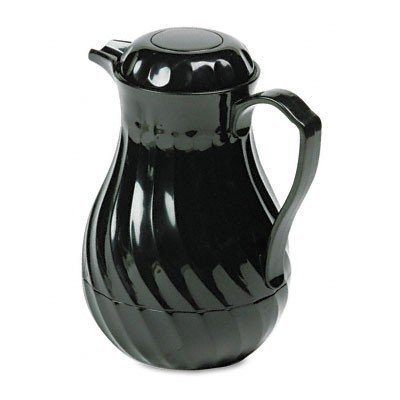 Black 64 Decanter Oz Coffee (Hormel HOR402264B Insulated Plastic Carafe Swirl, 64 oz, Black)