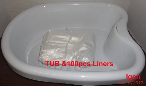 Plastic foot basin for detox foot spa bath tub with 100 for Liner pvc bassin