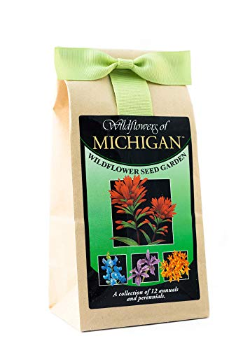 (Michigan Wildflower Seed Mix - A Beautiful Collection of Twelve Annuals & Perennials - Enjoy The Natural Beauty of Michigan Flowers in Your Own Home Garden)